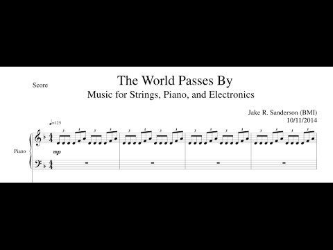 The World Passes By (Original Score/Minimalism) - SHEET MUSIC