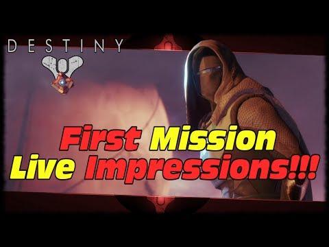 Destiny 2 Beta First Mission Blind Playthrough Live!!! Destiny 2 First Mission First Impressions!!!