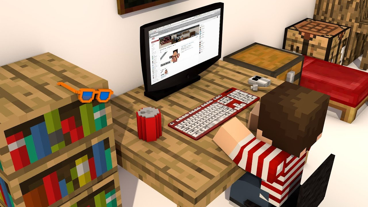 free minecraft computer model for cinema 4d thanks for 600 respawners youtube. Black Bedroom Furniture Sets. Home Design Ideas