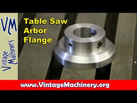 Machining a Table Saw Arbor Flange