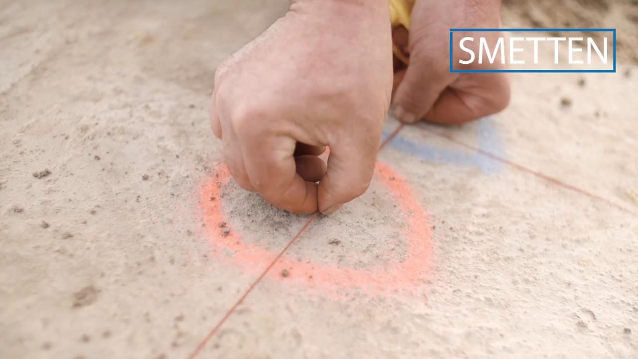 Isotras plaatsinstructie strokenfundering vloer op zand youtube