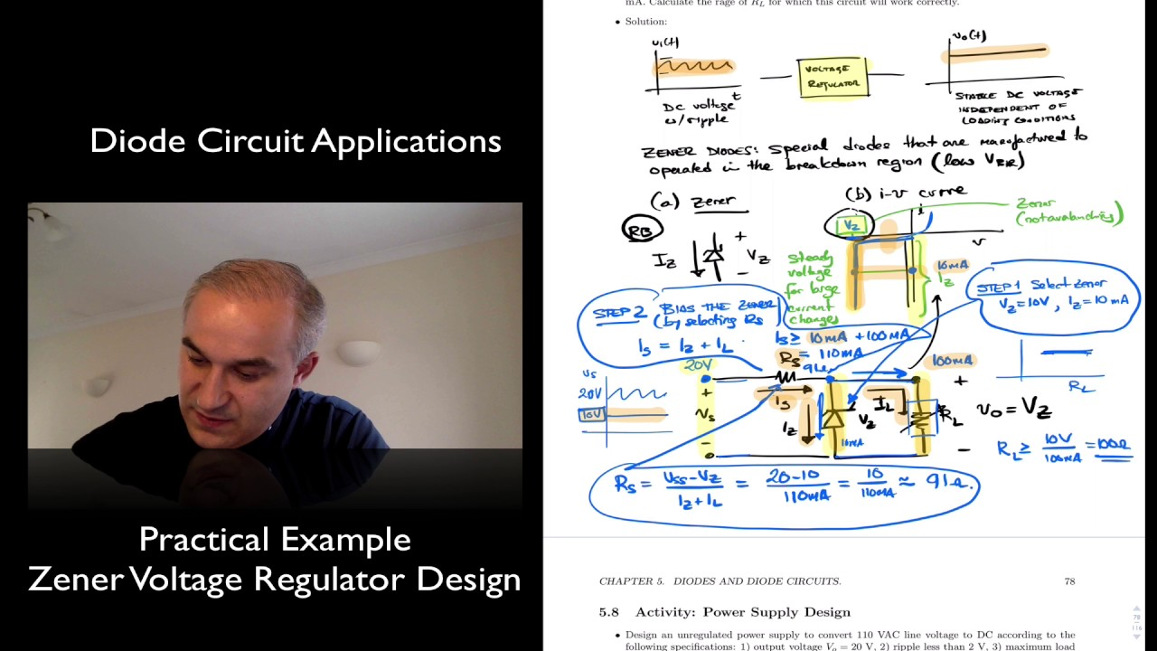 Example Zener Voltage Regulator Design Youtube This Circuit Would Work So Much Better Than The Simple