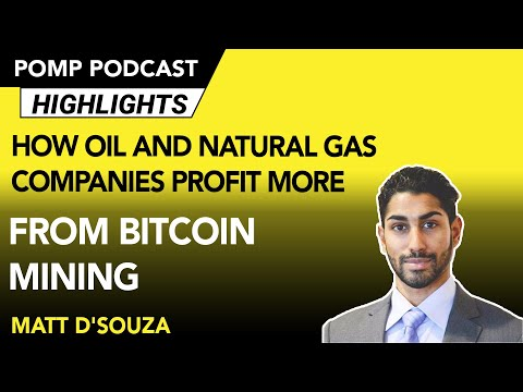 Could Oil And Natural Gas Drillers Make More Money From Mining Bitcoin? Matt D'Souza Explains