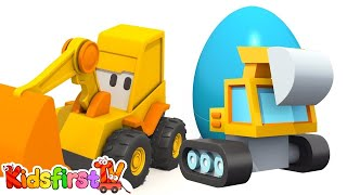 CATERPILLAR EXCAVATOR - Surprise Eggs - Hot & Cold Playground Games Excavator Max!