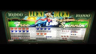 "LUCKY DUCKY WINS!!! .05CENTS on ""LUCKY DUCKY"" $9 MAX BET LIVE ACTION CHOCTAW CASINO DURANT, OK"