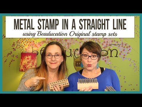 Tips for Metal Stamping in a Straight Line - From Facebook Live Episode 34