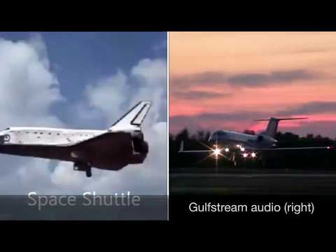 Fake Shuttle Jet Airplane Prop Lands From Fake Space Air Force Base to Fool You