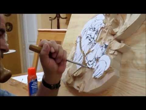 Woodcarving: Carving Santa Claus for November's Workshop
