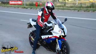 BMW S1000RR HP4 2016 - BMW Motos, 2016 BMW s1ooorr Street Fighter Bike Sounds, Akrapovic Sounds,