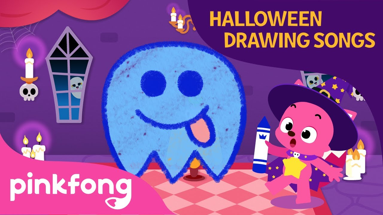 A Little Ghost | Halloween Drawing Songs | Pinkfong Songs for Children
