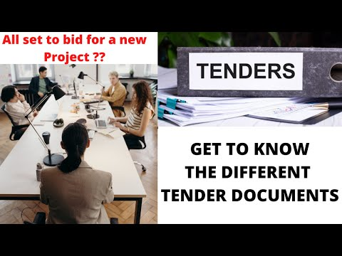 Understand the different Tender Documents | Bid for your next Project with ease