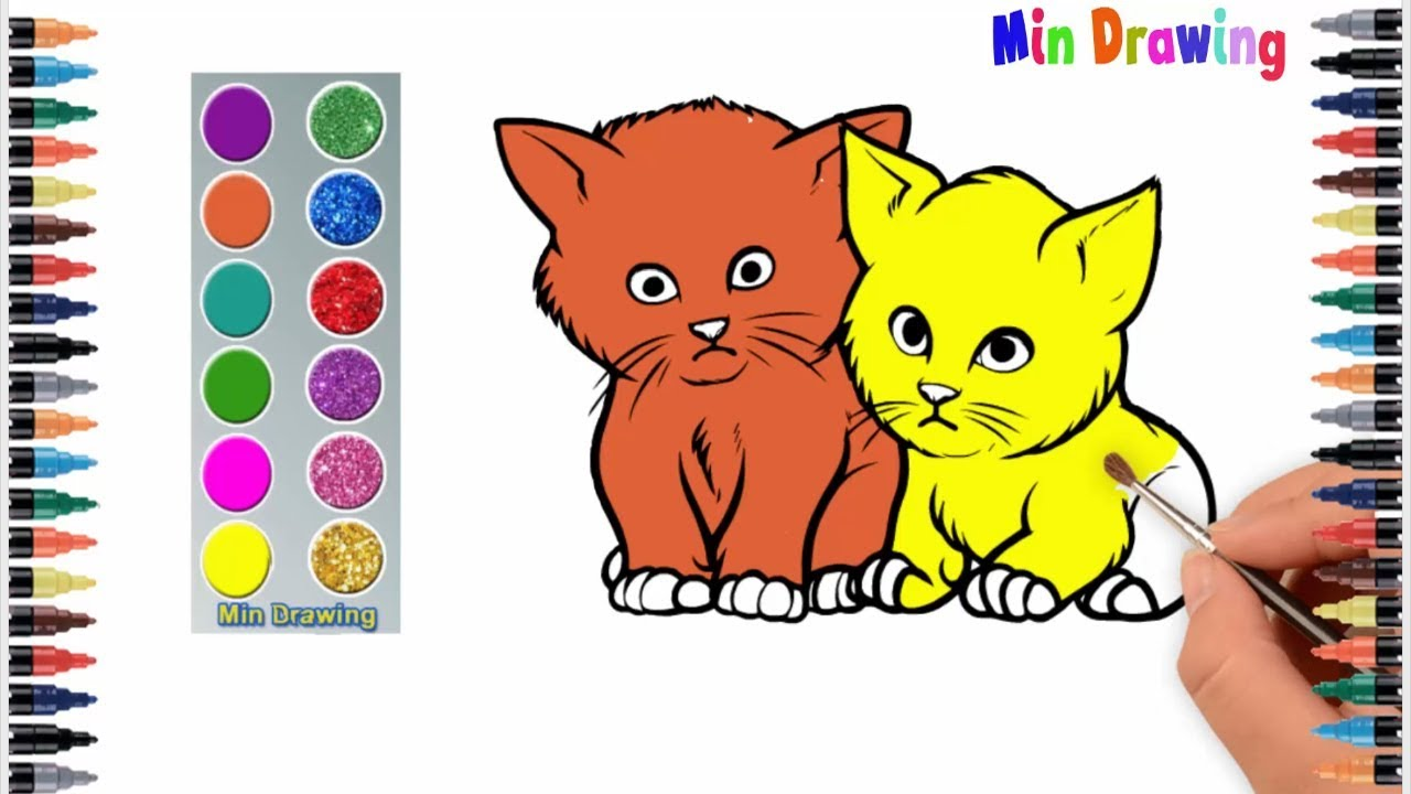 Cat Cartoon Coloring Pages