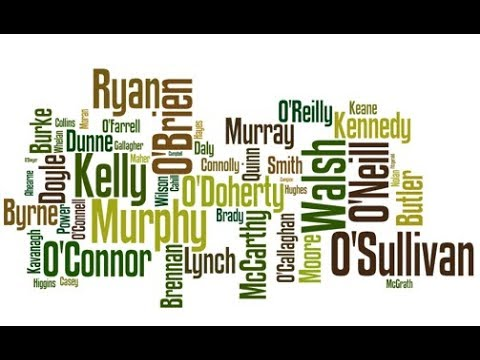Frequency Of Irish Surnames (1890s)