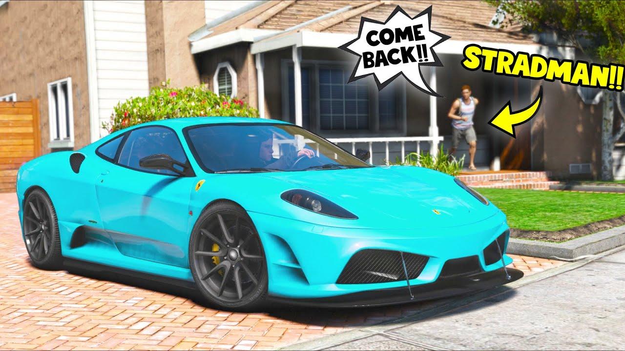 I stole Stradman's Ferrari F430 Challenge car... He was MAD!! (GTA 5 Mods)