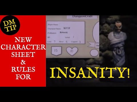 Simplified Character Sheet & Insanity Rules for D&D! (DungeonCraft #66)