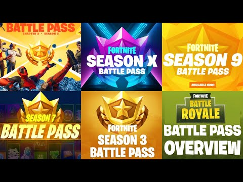 *ALL* Fortnite Battle Pass From Season 1 To Season 12 - Fortnite Chapter 2 Season 12