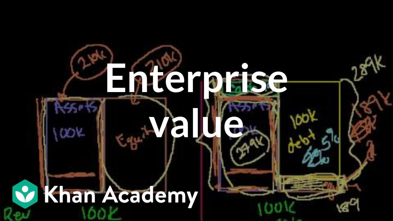 Enterprise value | Stocks and bonds | Finance & Capital Markets | Khan Academy