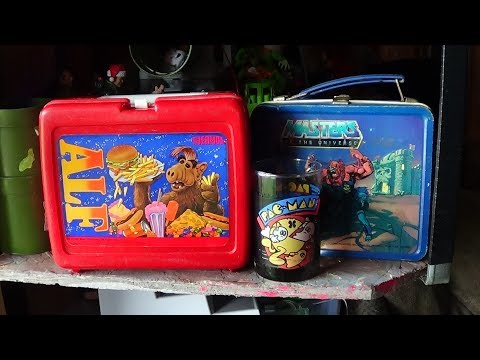 Lunchbox: He-man, Alf & Rare 1980 Pac-man Glass Cup (LunchBox #1)