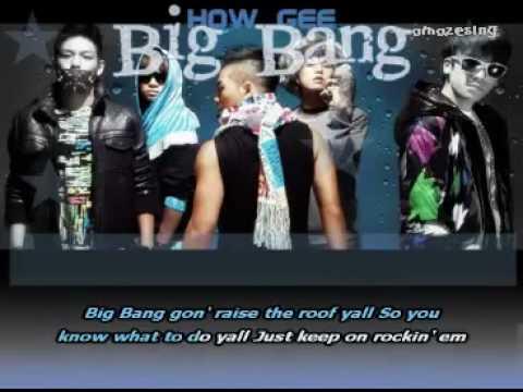 Big Bang - How Gee [Sing-Along Karaoke] English Lyrics [OnScreen].flv
