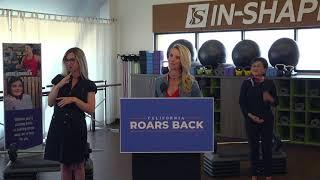 Governor Newsom \u0026 First Partner Siebel Newsom to Highlight Benefits of Exercise at Fitness Center