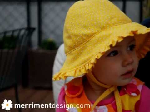 How to make a baby sun hat with ruffle  plus free pattern  - YouTube c32fb592f68