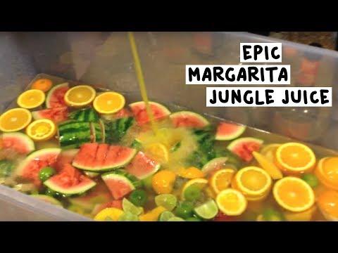 Epic Margarita Jungle Juice - Tipsy Bartender