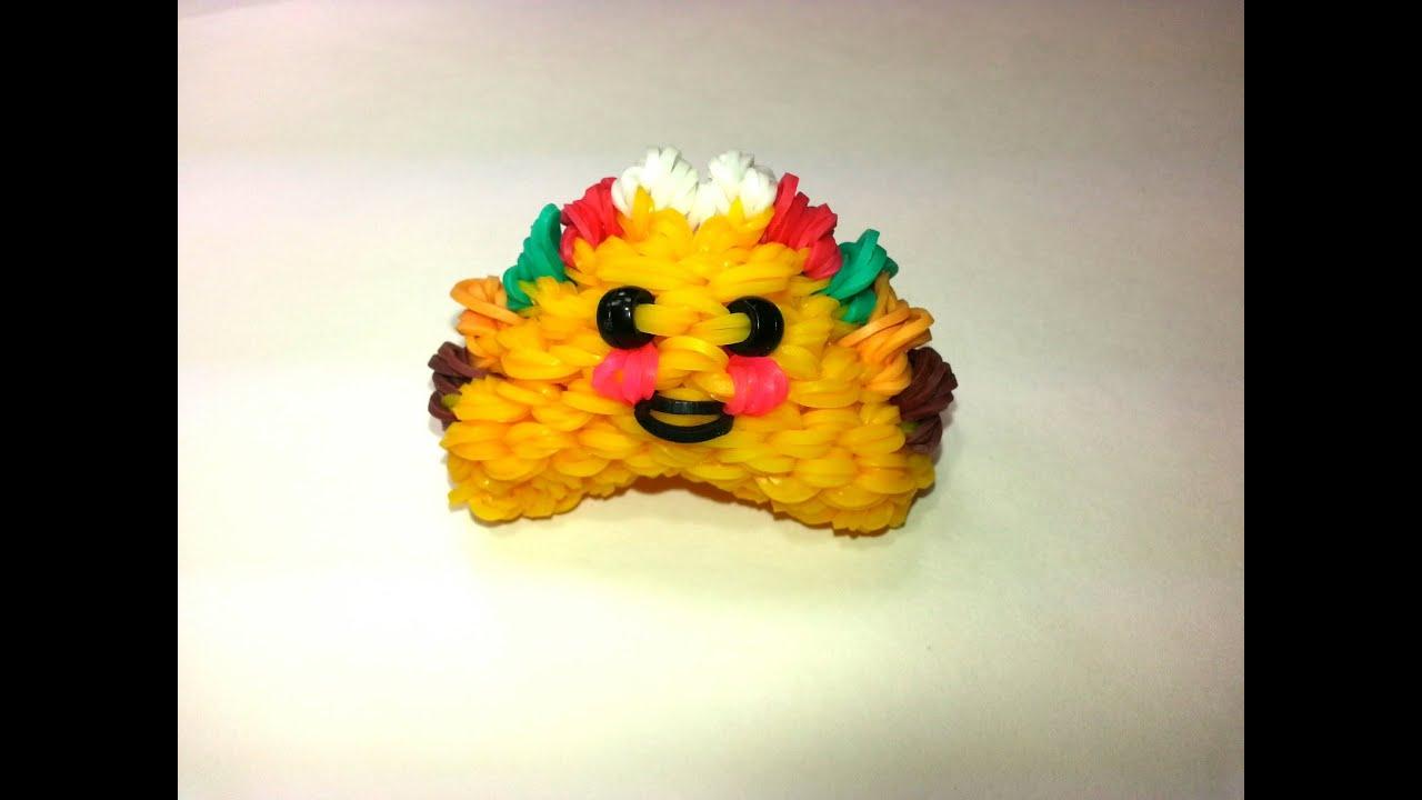 3 D Happy Taco Tutorial By Feelinspiffy Rainbow Loom