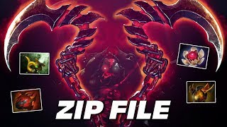 ZIP FILE PUDGE | BUTCHER KING | Dota 2 Pro Gameplay