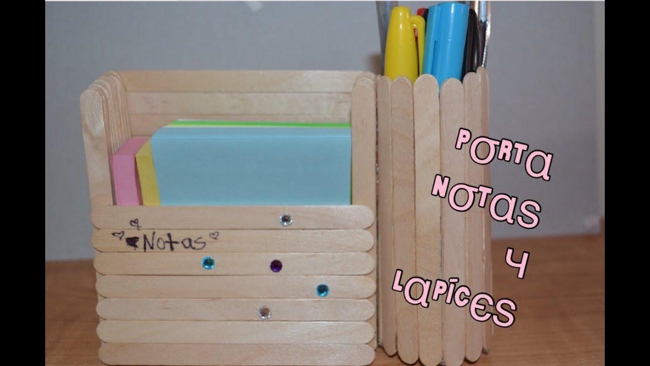 Diy porta notas y organizador de lapices dos en uno youtube - Como decorar un joyero de madera ...