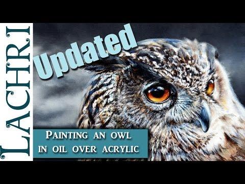 Photorealistic Owl Oil