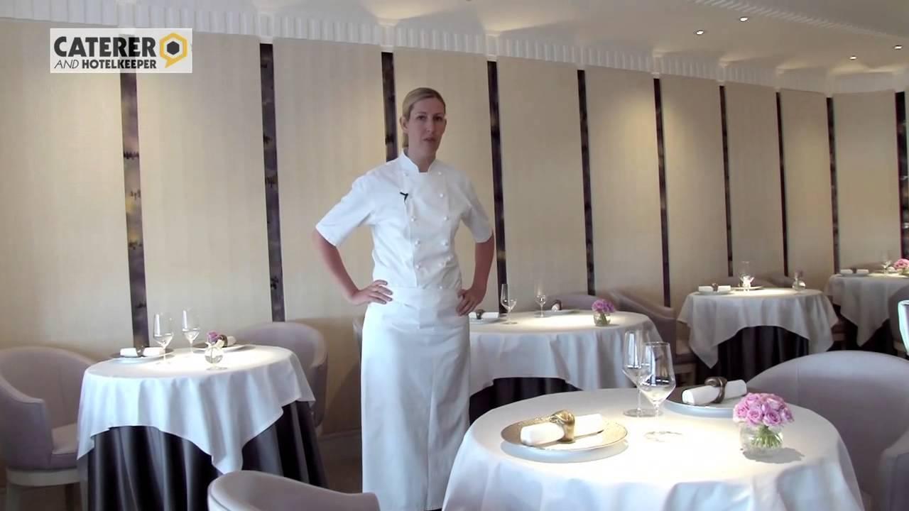 Chef Masterclass Clare Smyth At Restaurant Gordon Ramsay Demos