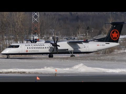 First Visit! Air Canada Express Dash Q400 [C-GGOY] at Quebec City (YQB)