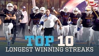 Top 10 Active Winning Streaks presented by Champs Sports