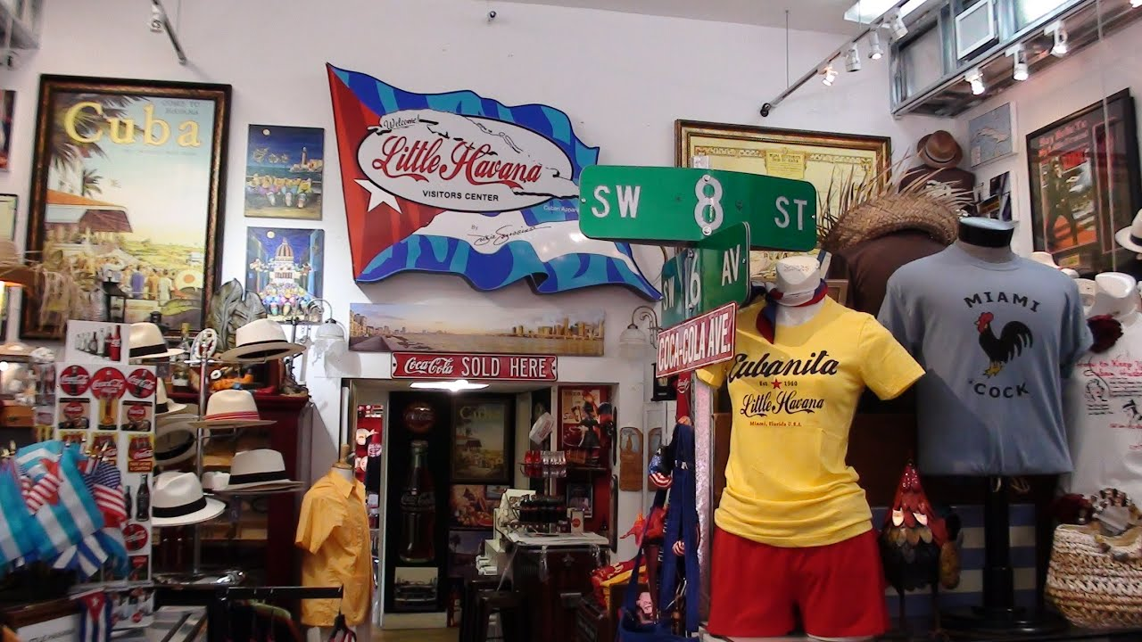 Calle Ocho Little Havana Miami Florida Usa