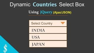 Part #1 - List of Countries in Select-Box Using jQuery (Ajax/JSON)
