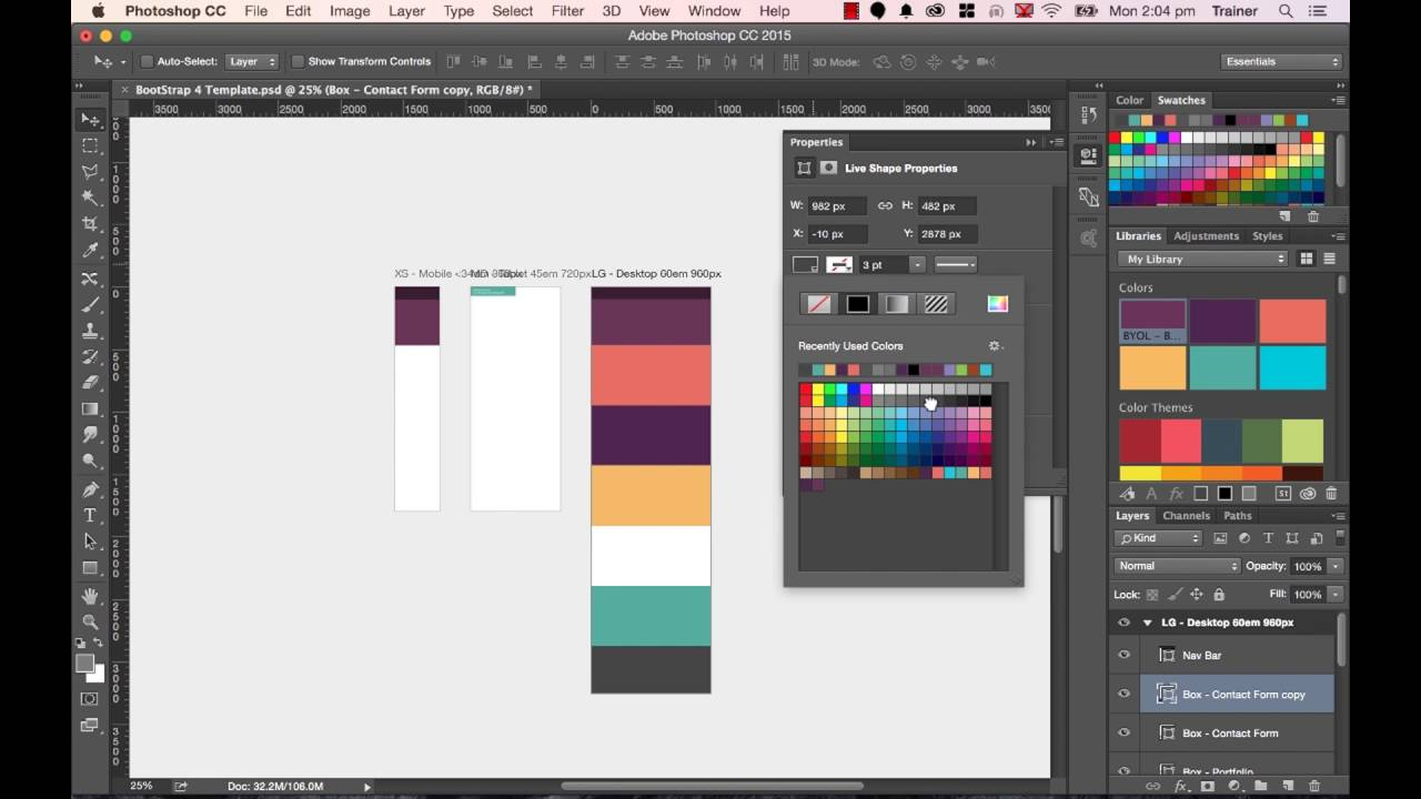 23/48 Production video - adding structure to your Photoshop web page design
