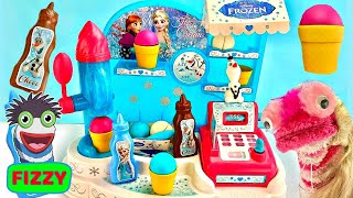 Fizzy Plays With Frozen 2 Ice Cream Factory Cash Register