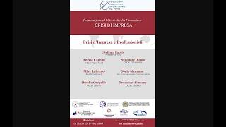 """Presentazione del corso di alta formazione """"Diritto delle crisi d'impresa"""""""
