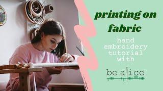 How to put fabric through a printer
