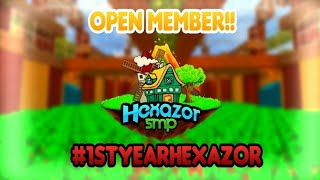 OPEN MEMBER HEXAZOR!!! NO CLICKBAIT!! || MCPE REALM #1STYEARHEXAZOR