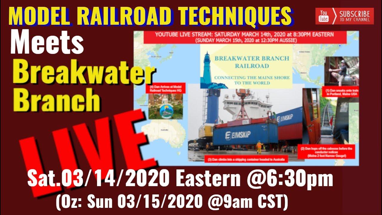 Model Railroad Techniques meets Breakwater Branch..Virtual Hangout.