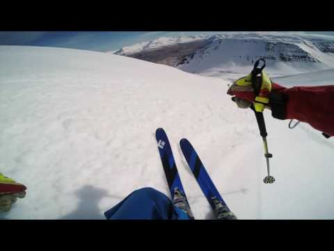 Skiing in Olafsfjordur, Iceland May 2016