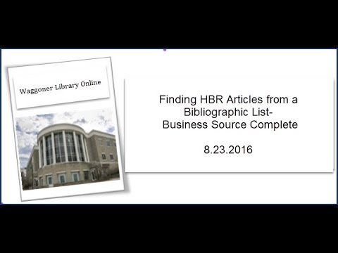 Finding HBR Articles