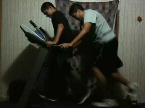 Two People On A Treadmill