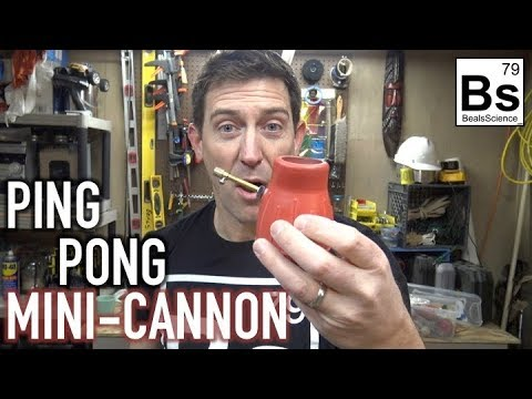How to Make a Mini Cannon That Shoots Ping Pong Balls | Beals