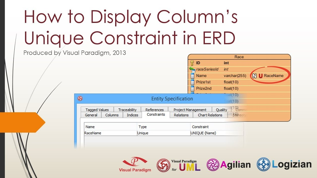 How to display columns unique constraint in erd youtube how to display columns unique constraint in erd ccuart