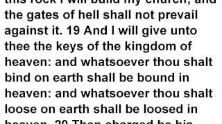 Matthew 16 KJV Read Along Audio Bible with Scrolling Text