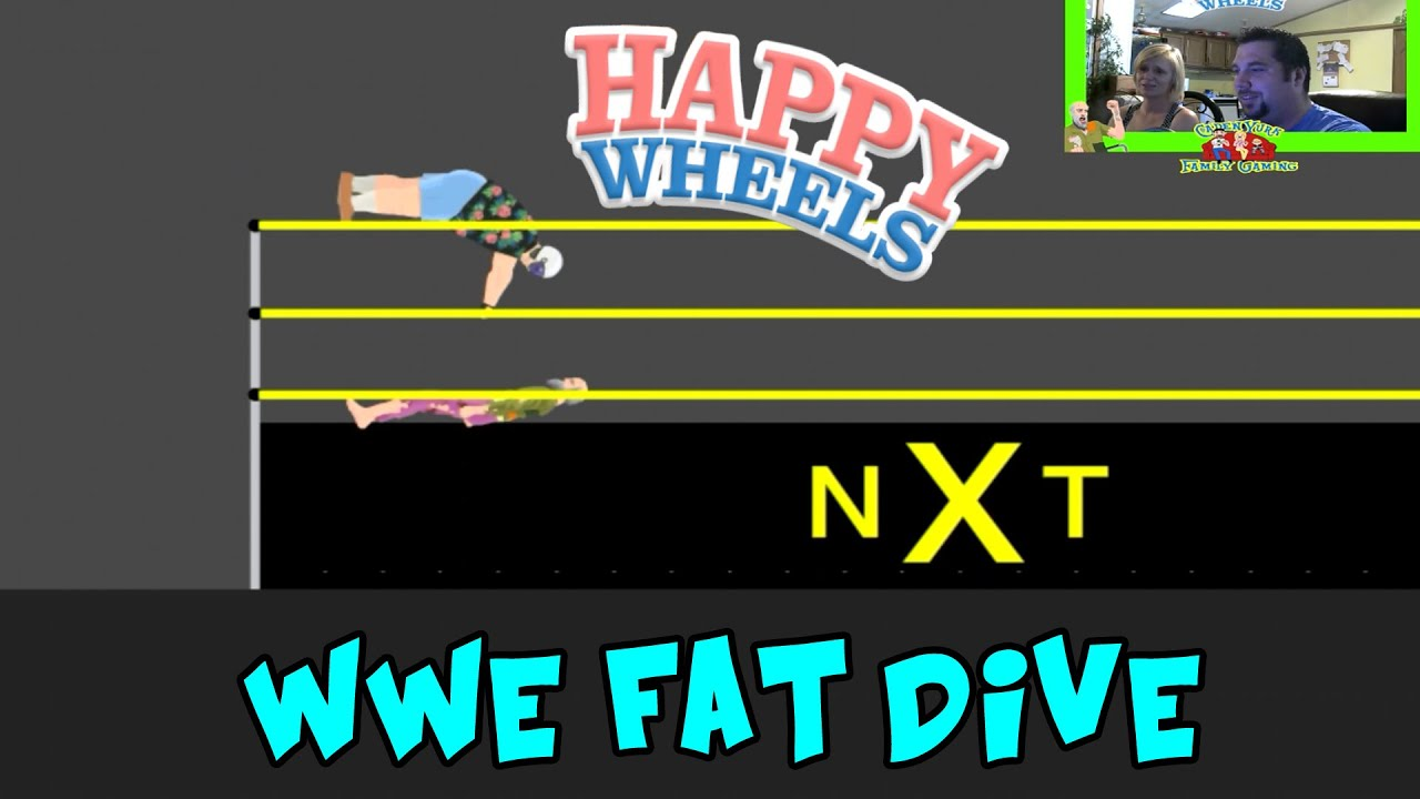 Happy Wheels Wwe Nxt Fat Dive Gameplay Part 74 Youtube