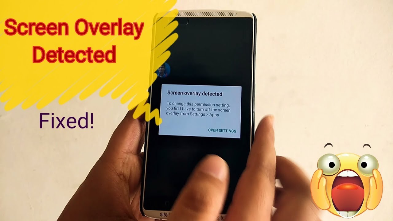 How To Fix Screen Overlay Detected In Android Draw Over Other App