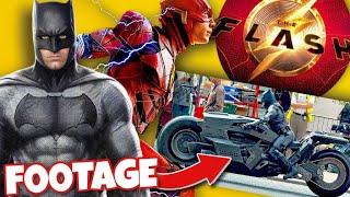 The Flash (2022) New Footage Reveals Affleck's Batman New Suit & Bike